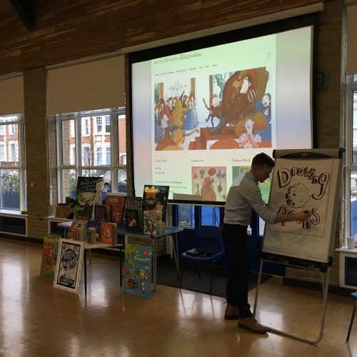 Exciting visit from illustrator Garry Parsons